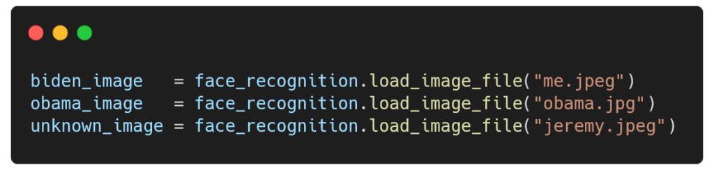 Modification du code pour utiliser ses propres photos