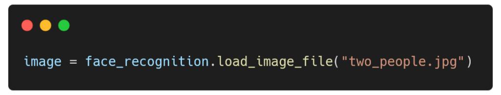 Modification du code pour utiliser vos propres photos - trait du visage