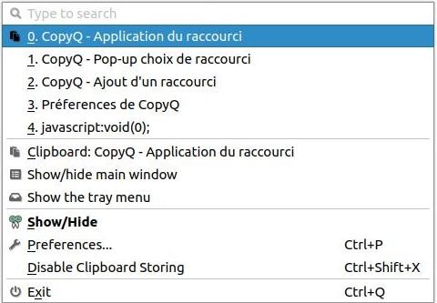 CopyQ - Historique des copier-coller