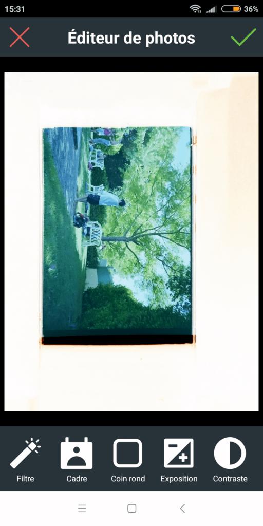 Modification de la photo