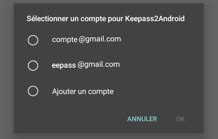 Connexion à un compte Google Drive