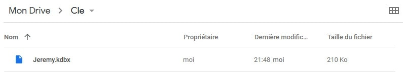 Google Drive - portail vérification