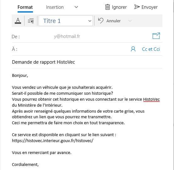Demande Rapport HistoVec