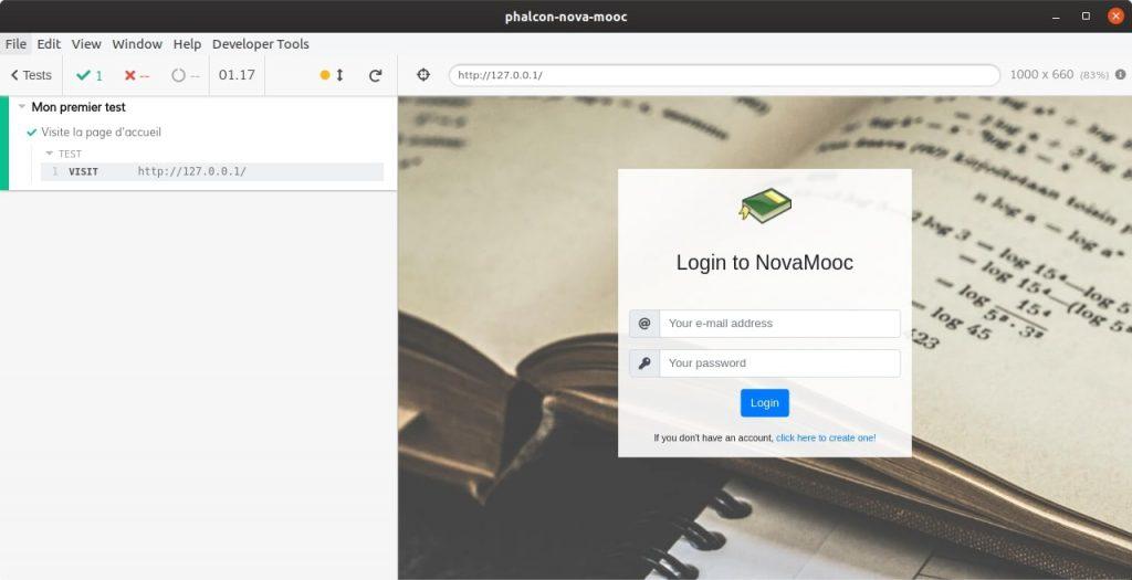 Test de la page d'accueil avec Cypress
