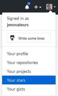 GitHub - liste mes projets Star