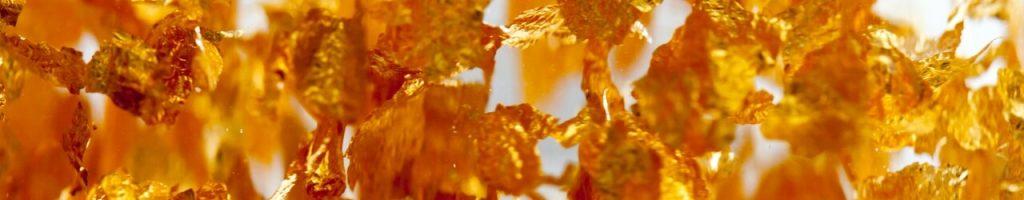 Bannière feuilles or