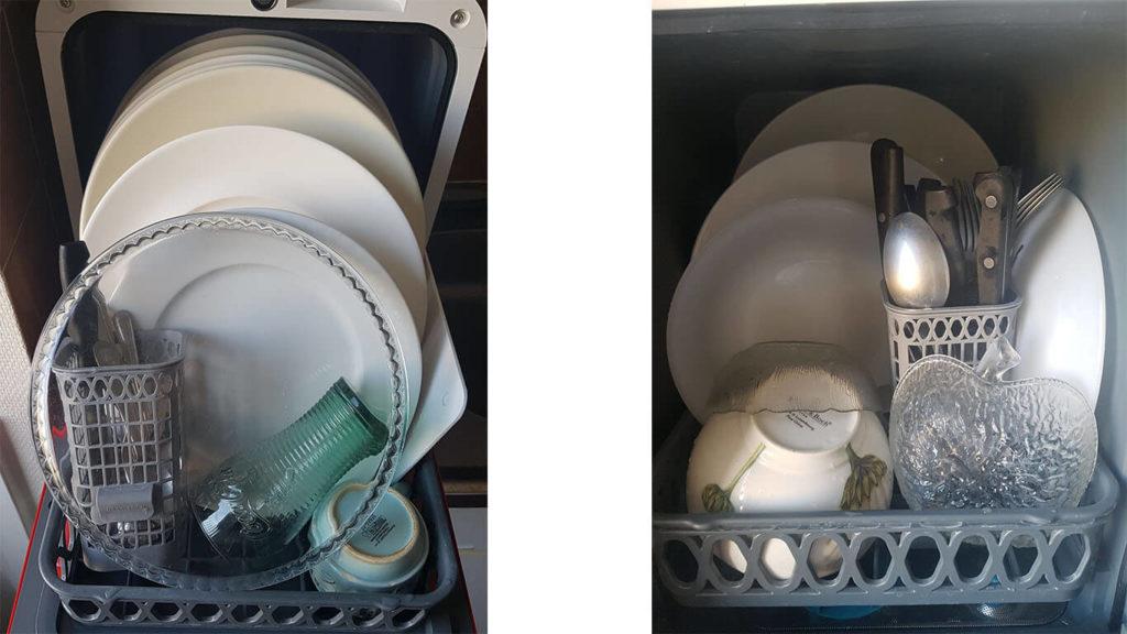 Bob le mini lave-vaisselle remplissage