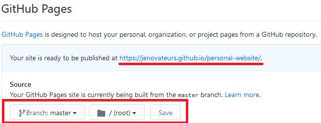 GitHub Pages - Activez l'hébergement Web d'un projet