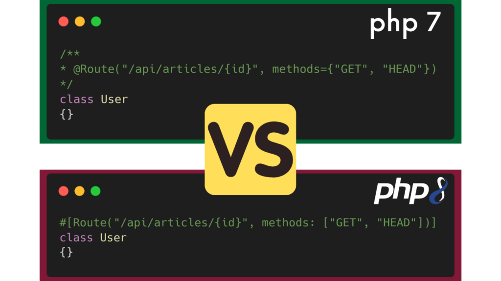 PHP 7 versus PHP 8 Documentation & Attributs