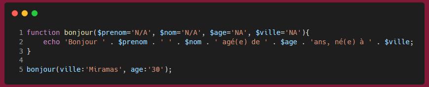 PHP 8 - Arguments nommés