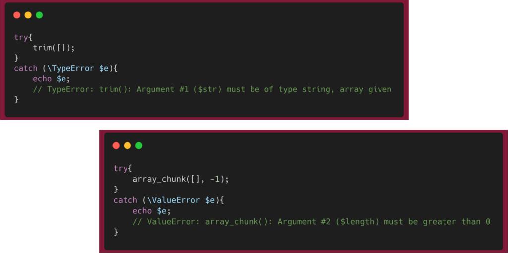 PHP 8 - Des erreurs plus précises et plus cohérentes