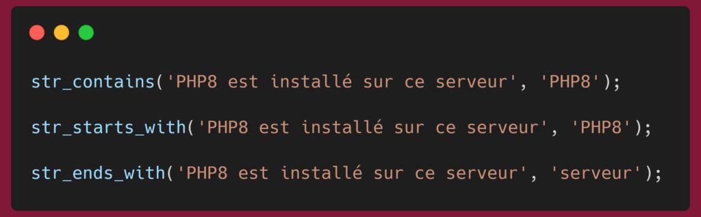 PHP - nouvelles fonctions de manipulation de chaine de caractères