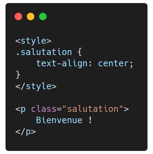Exemple sémantique CSS