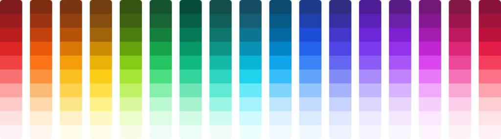 Palette de couleur Tailwind CSS