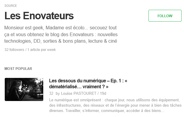 Feedly - Les Enovateurs