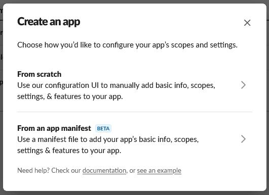 App from scratch - Slack