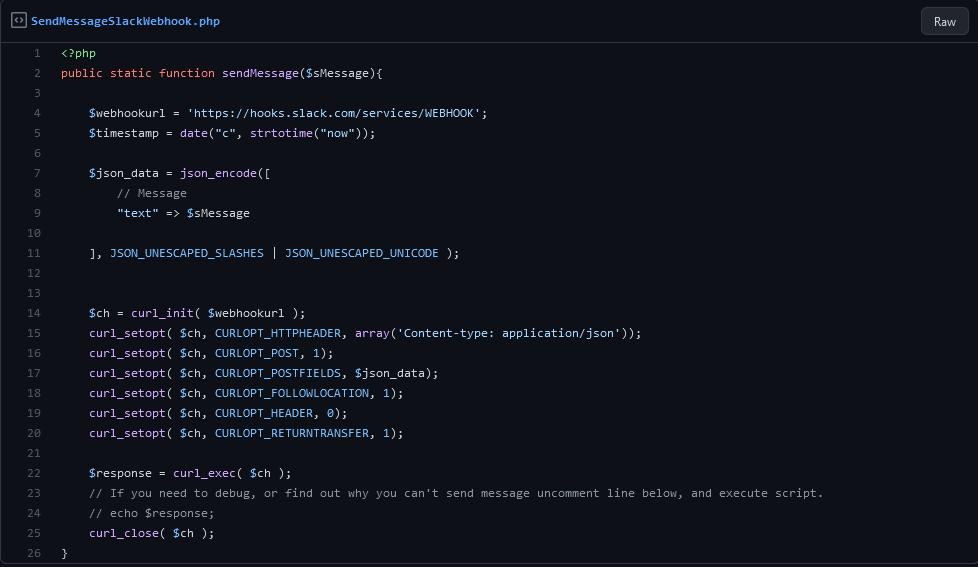 Slack x PHP - Send Message