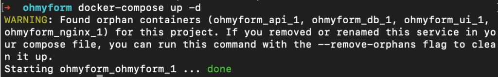 OhMyForm - lancement avec Docker